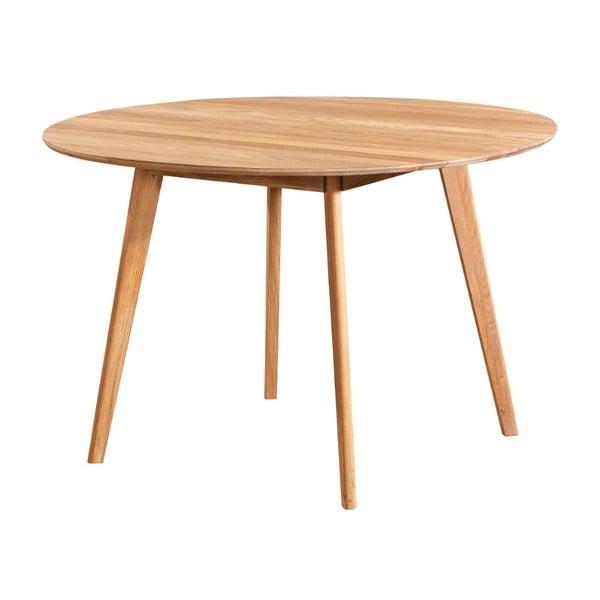 Přírodní jídelní stůl z dubového dřeva Folke Yumi, ∅115cm