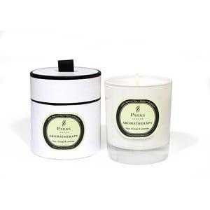 Lumânare parfumată Parks Candles London Aromatherapy, aromă de pere, portocale și levănțică, 50 ore