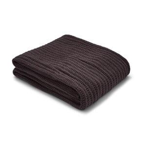 Tmavě hnědý pletený přehoz Catherine Lansfield Knit, 125x150cm