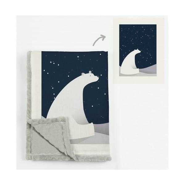 Dětská deka Little Nice Things Bear, 170 x 130 cm