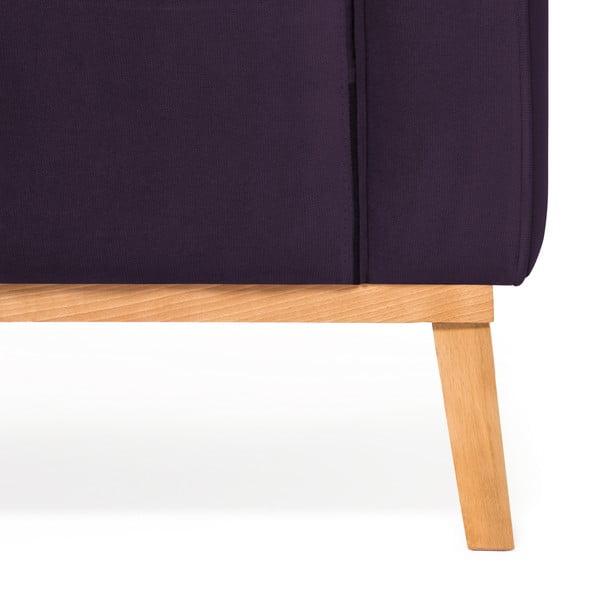 Fialová 3místná sedačka pravý roh Vivonita Milton Trend