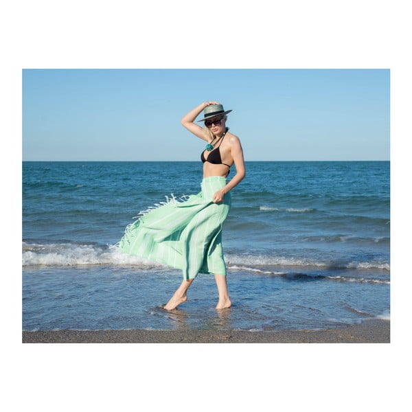 Prosop de plajă Kate Louise Cotton Collection Classic, 100 x 180 cm, verde