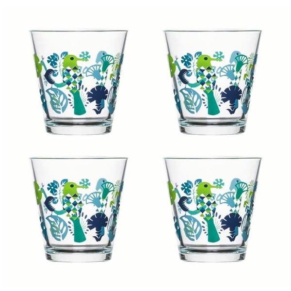 Sada 4 sklenic Sagaform  Fantasy 200 ml, zelené/modré