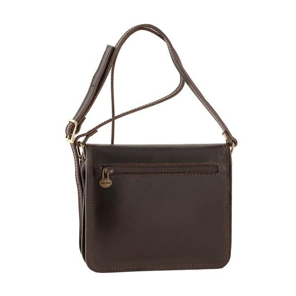 Tmavě hnědá kožená kabelka Ore Diece Agrigento