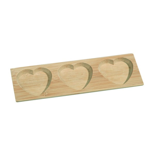 Bol servire din bambus Kosova Tree Hearts, 17,8 x 6 cm