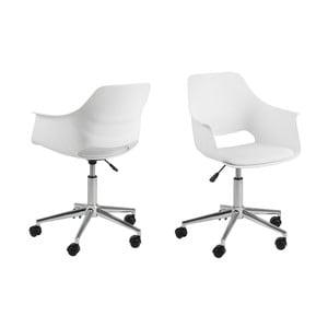 Bílá kancelářská židle Actona Ramona