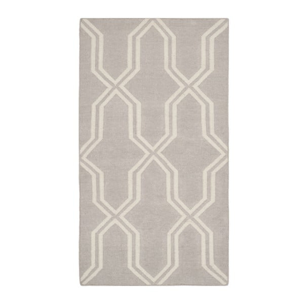 Šedý vlněný koberec Safavieh Aklim, 152 x 91 cm
