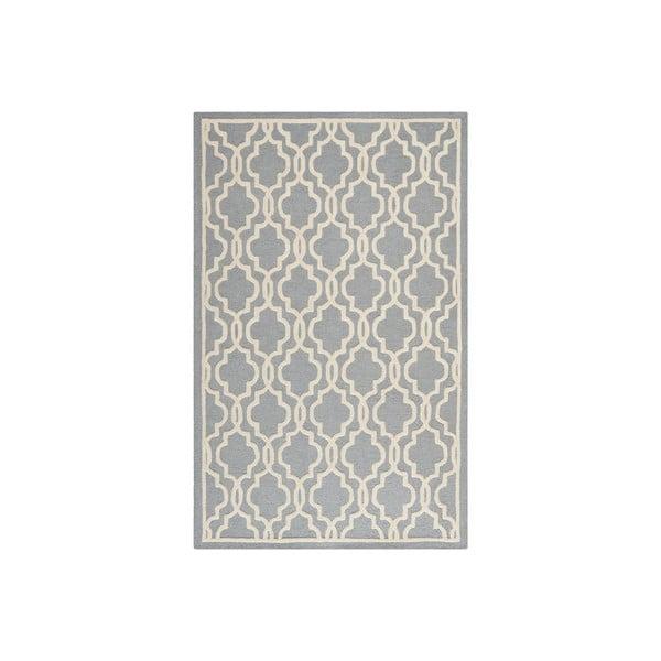 Vlněný koberec Elle 152x243 cm, šedý