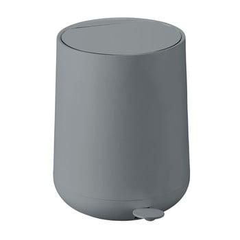 Coș de gunoi cu pedală Zone Nova, 5 l, gri