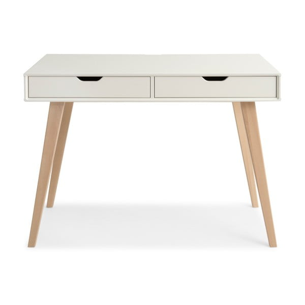 Kolo fehér kézzel készített tömör nyírfa íróasztal - Kiteen