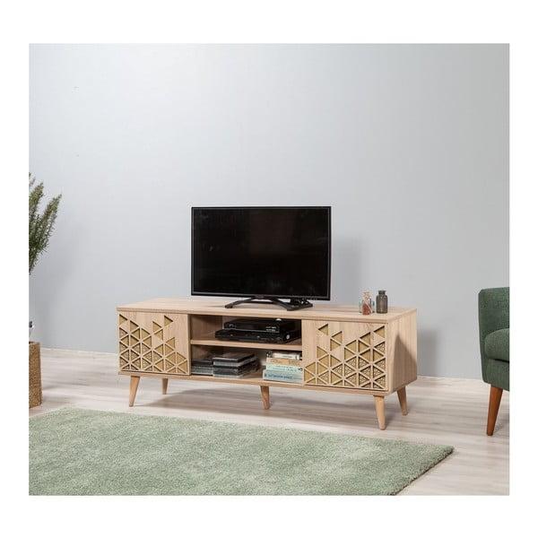 Dřevěný TV stolek Fokas Triangle