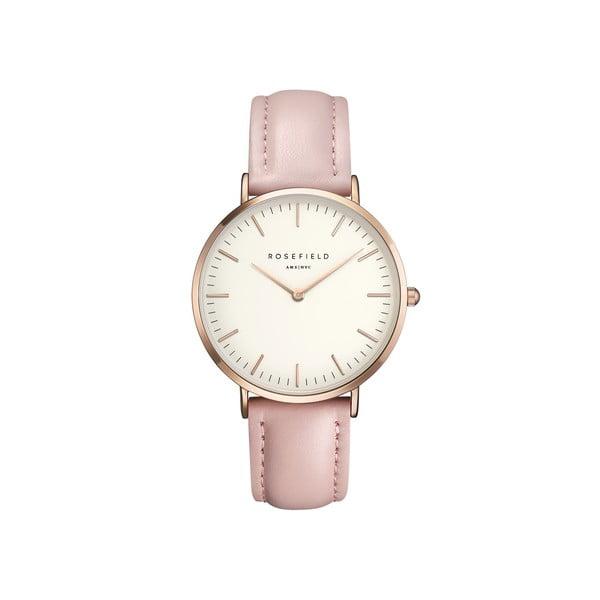 Bílorůžové dámské hodinky Rosefield The Bowery