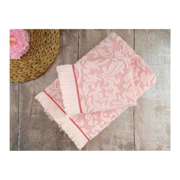 Sada 2 růžových ručníků Irya Home Royal, 50x90 cm