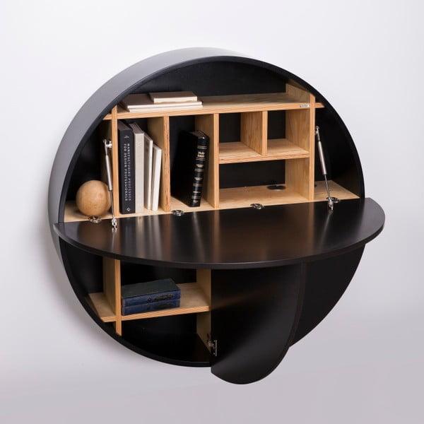 Pill fekete többfunkciós fali asztal - EMKO