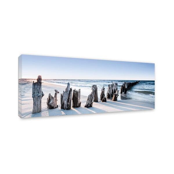 Tablou imprimat pe pânză Styler Blue Sunset, 150 x 60 cm