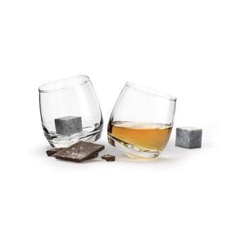 Set 2 pahare cu pietre de răcire pentru whiskey Sagaform Gentleman, 200 ml de la Sagaform