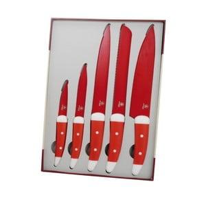 Set 5 cuțite Laguiole Julien, roșu