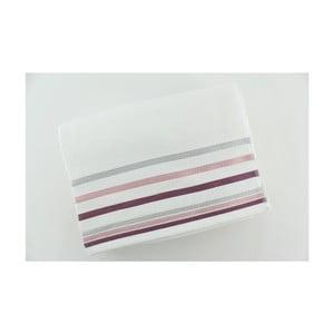 Set 2 osušek White Purple, 70x140 cm