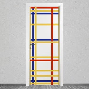 Samolepka na dveře LineArtistica Mondrian 4, 80 x 215 cm