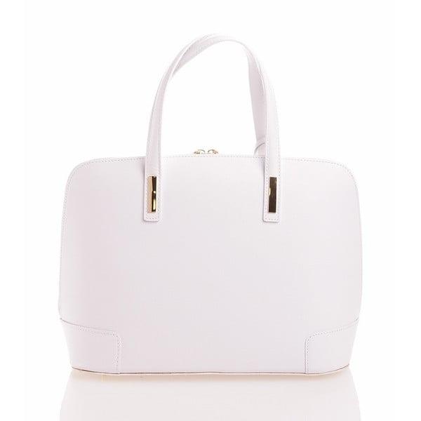 Kožená kabelka Olga, bílá