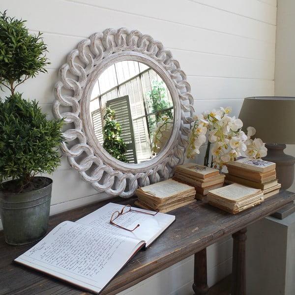 Zrcadlo Mahogany Round Antique