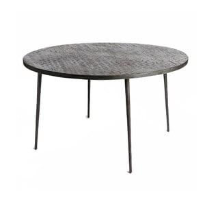 Černý konzolový stolek z mangového dřeva Simla Rock, ⌀1,2m
