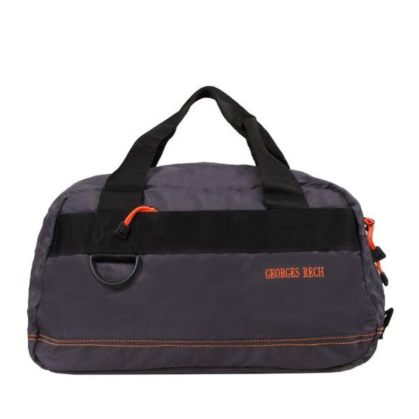 Šedá taška s oranžovými detaily BlueStarEdimbourg, 17l
