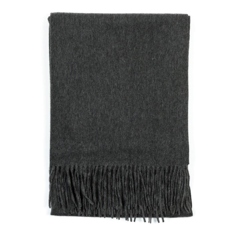 Tmavě šedá kašmírová šála Bel cashmere Lea, 200 x 70 cm
