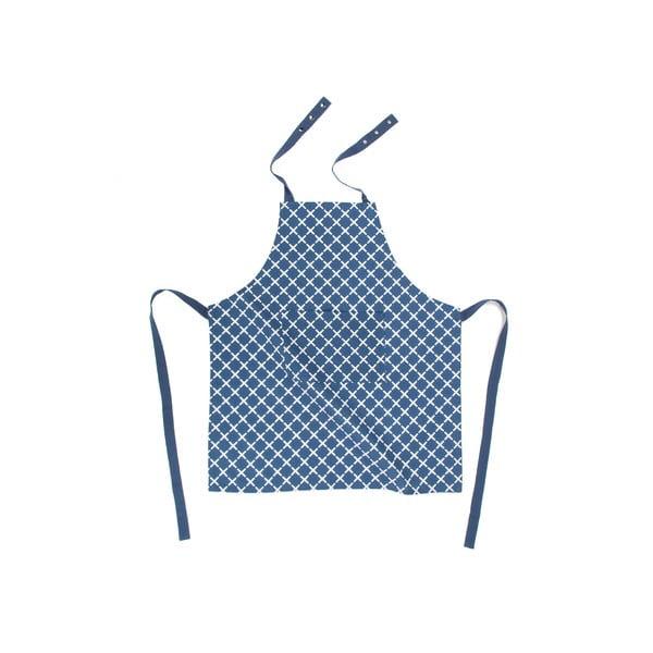 Modrá bavlnená zástera Tiseco Home Studio Cross