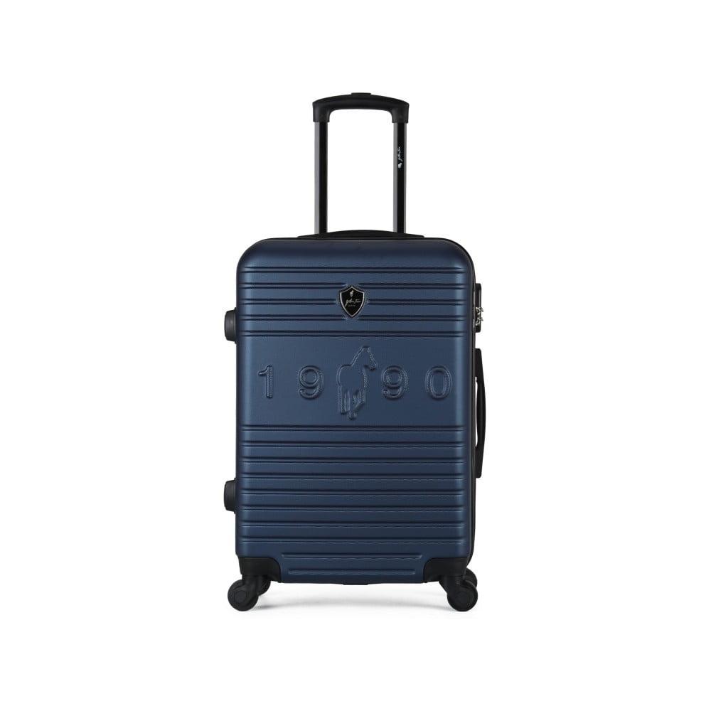 Tmavě modrý cestovní kufr na kolečkách GENTLEMAN FARMER Valise Grand Cadenas Integre, 45 x 65 c
