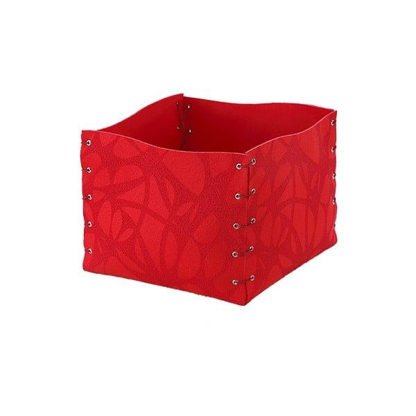Plstěný obal na květiny 25x20 cm, červený
