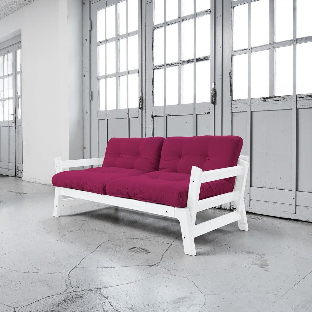 Rozkládací pohovka Karup Step White/Pink