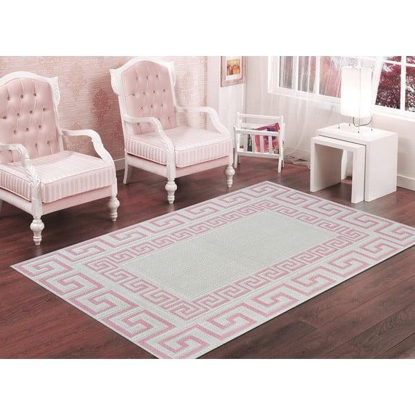 Pudrově růžový odolný koberec Vitaus Versace, 60x90cm