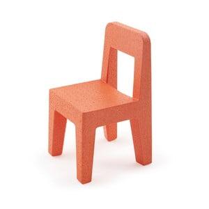 Dětská oranžová židle Magis Seggiolina Pop