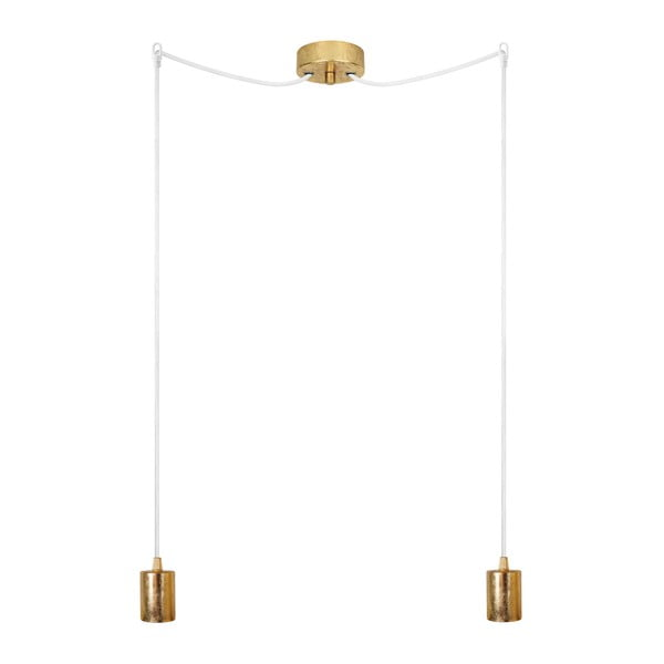 Dvojité závěsné kabely Cero, zlatá/černá/zlatá