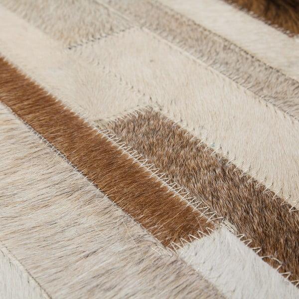Krémový kožený koberec Eclipse, 80x150cm