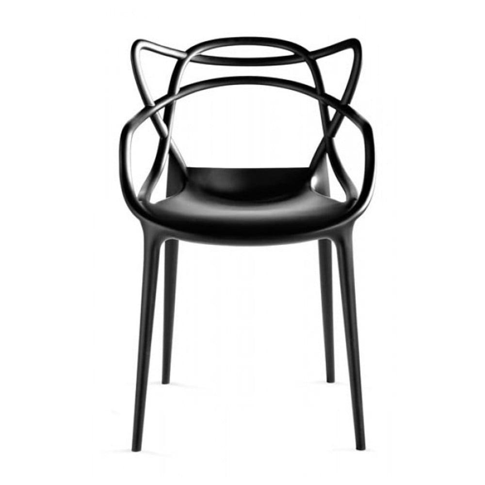 Černá jídelní židle Kartell Masters