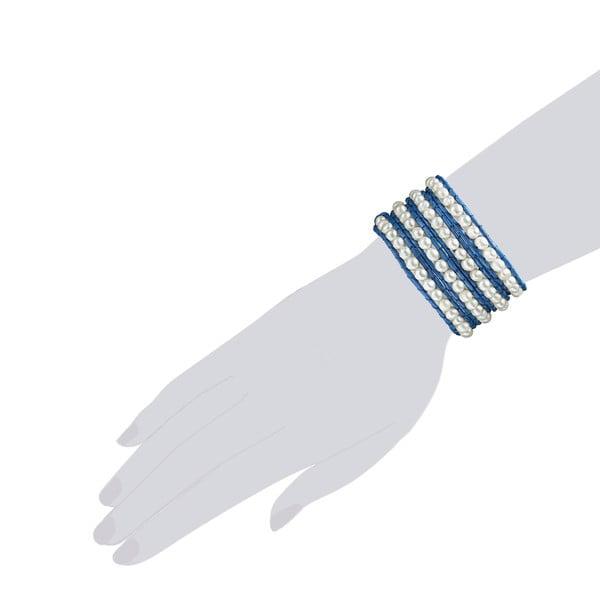 Náramek Evian, tm. modrý