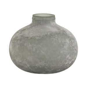 Šedá skleněná váza VICAL HOME Organic, ⌀ 34 cm