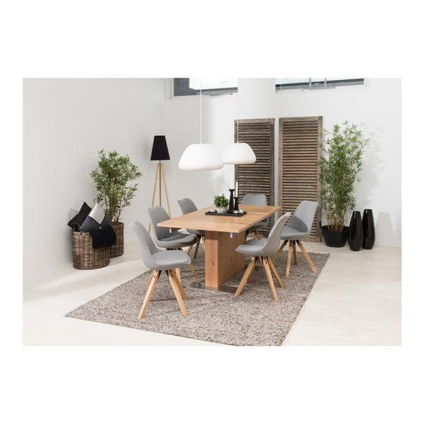 Sada 2 světle šedých jídelních židlí Actona Dima