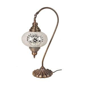 Skleněná ručně vyrobená lampa Fishing Code, ⌀17cm