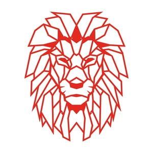 Červená kovová nástěnná dekorace Wall Decor Lion