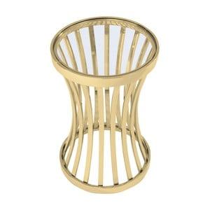 Odkládací stolek ve zlaté barvě Artelore Allegra