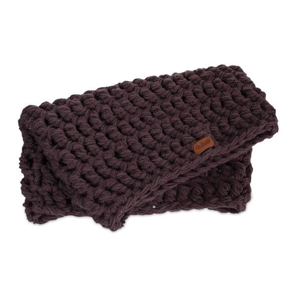 Eșarfă rotundă tricotată manual DOKE Plum