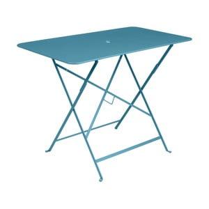 Modrý zahradní stolek Fermob Bistro, 97 x 57 cm