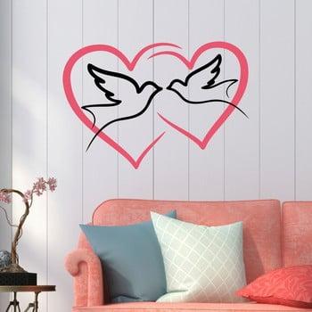 Autocolant decorativ pentru perete Love Birds de la Unknown
