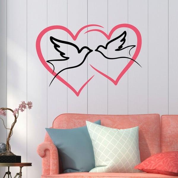 Dekorativní nálepka na stěnu Love Birds
