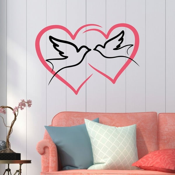 Love Birds dekoratív falmatrica