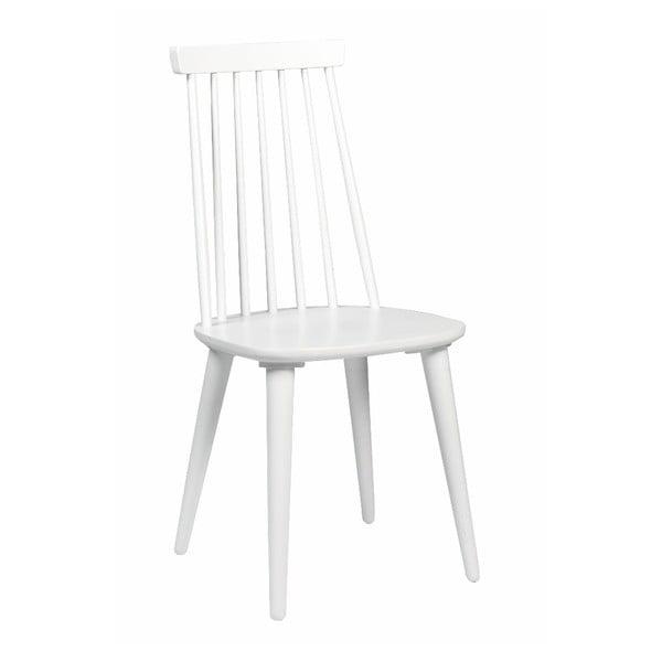Scaun din lemn de cauciuc Rowico Lotta, alb