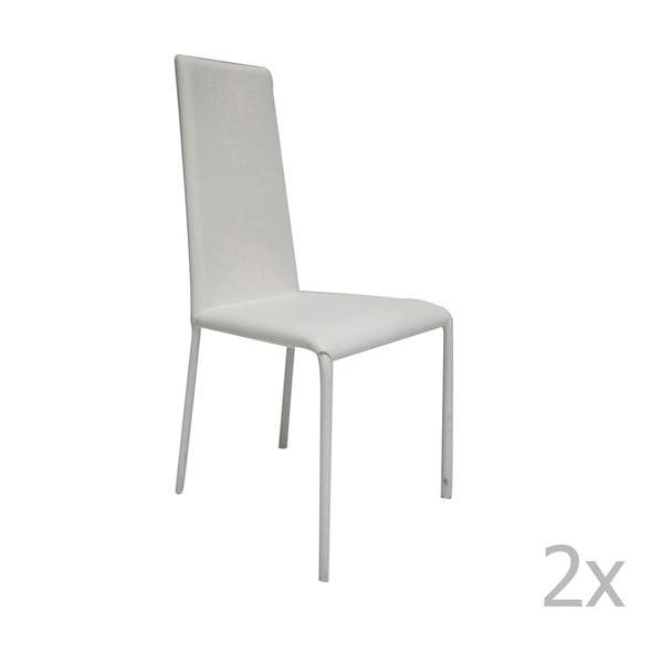 Sada 2 bílých židlí Esidra Salvator